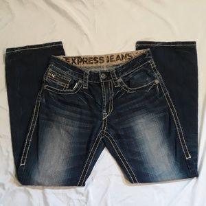 Womens Express Jeans Blue Denim Pants Size 31/30